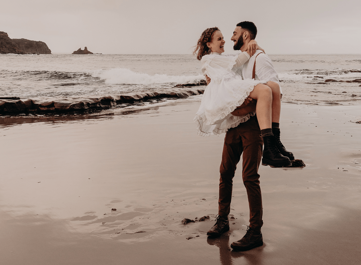 Adventure Awaits. Elopement couple